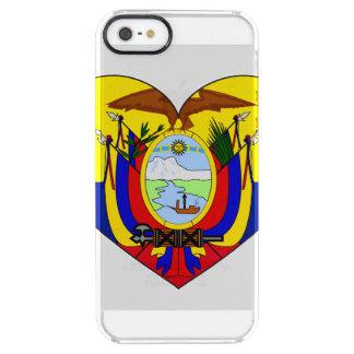 Funda Transparente Para iPhone SE/5/5s Corazón de la bandera de Ecuador