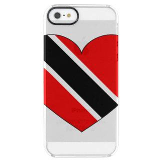 Funda Transparente Para iPhone SE/5/5s Corazón de la bandera de Trinidad and Tobago