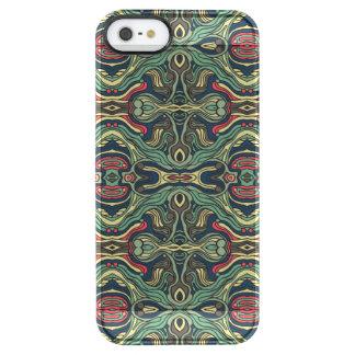 Funda Transparente Para iPhone SE/5/5s Diseño rizado dibujado mano colorida abstracta del