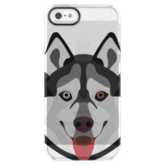 Funda Transparente Para iPhone SE/5/5s El ilustracion persigue el husky siberiano de la