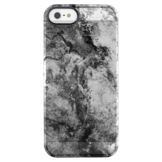 Funda Transparente Para iPhone SE/5/5s Final de piedra de mármol blanco negro rayado humo