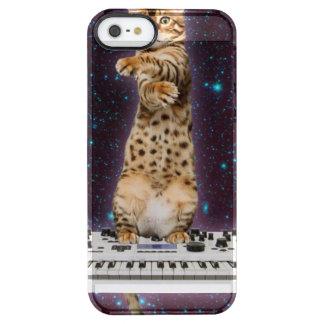 Funda Transparente Para iPhone SE/5/5s gato del teclado - gatos divertidos - amantes del