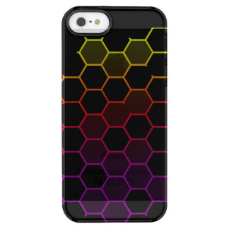 Funda Transparente Para iPhone SE/5/5s Maleficio del color en negro