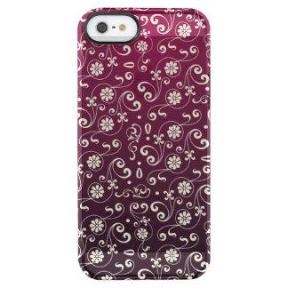 Funda Transparente Para iPhone SE/5/5s Modelo ornamental rojo