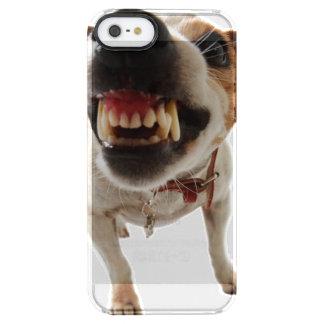Funda Transparente Para iPhone SE/5/5s Perro agresivo - perro enojado - perro divertido