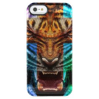 Funda Transparente Para iPhone SE/5/5s Tigre cruzado - tigre enojado - cara del tigre -