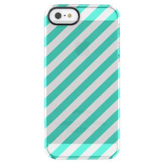 Funda Transparente Para iPhone SE/5/5s Trullo y modelo diagonal blanco de las rayas