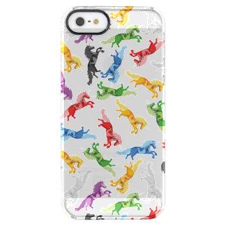 Funda Transparente Para iPhone SE/5/5s Unicornio coloreado del modelo