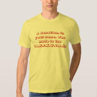 Fundación del tonto camiseta