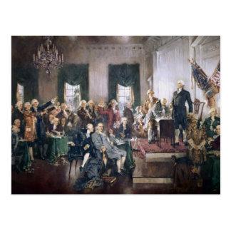 Fundadores que firman la constitución de los postal