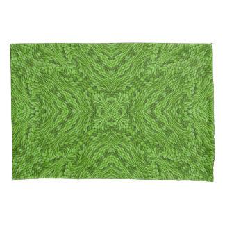 Fundas de almohada verdes del caleidoscopio del
