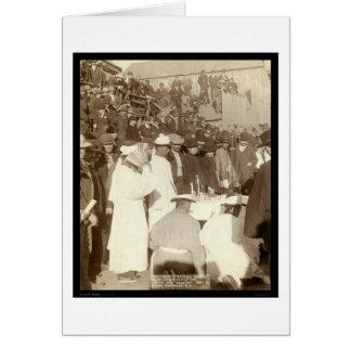 Funeral chino SD 1891 Tarjeta De Felicitación