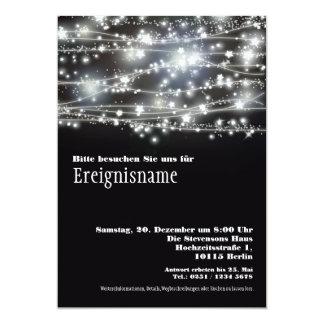 Funkelnde Sterne Partei Schwarzweiss Einladung Invitación 12,7 X 17,8 Cm