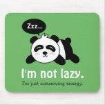Funny Cartoon of Cute Sleeping Panda Mouse Pads