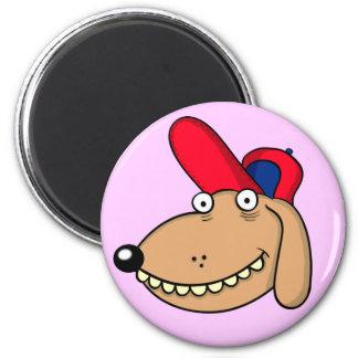 "funny dog ""dibujo animado "" imán redondo 5 cm"
