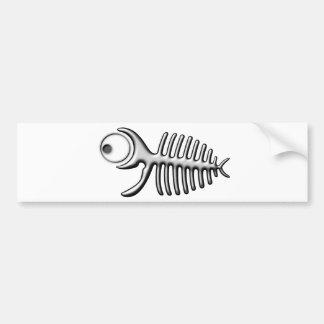 Funny fishbone pegatina de parachoque