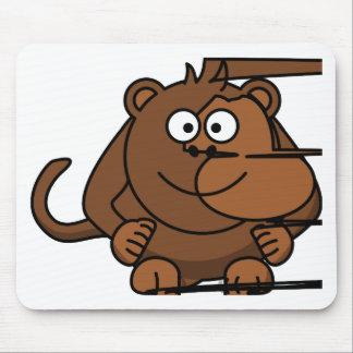 Funny Monkey/Divertido de mono Alfombrilla De Ratón