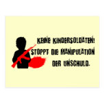 Für Kinderrechte del diseño: ¡Keine Kindersoldaten Tarjetas Postales
