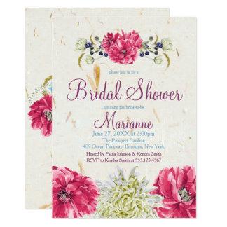 Fuschia e invitaciones nupciales florales de