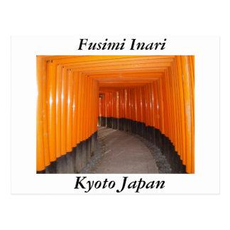 Fusimi Inari en Kyoto Japón Postal