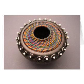 Fusión de cerámica 1 de la cestería tarjeta de felicitación