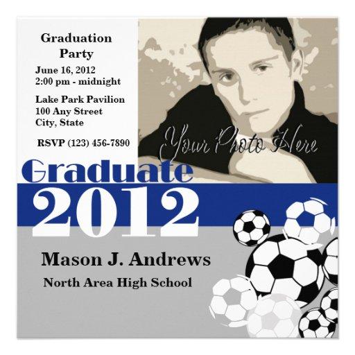 Fútbol 2012 del graduado invitacion personal