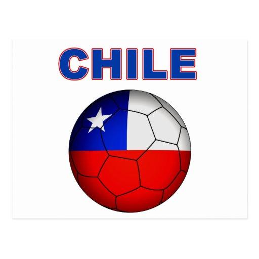 Fútbol 5025 de Chile Tarjeta Postal