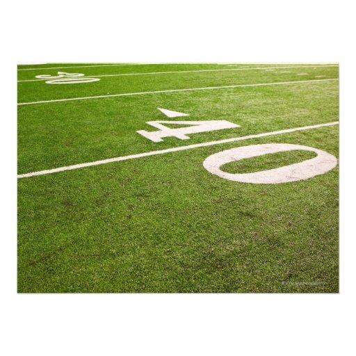 Fútbol americano 5 invitaciones personalizada
