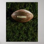 Fútbol americano en hierba, visión desde arriba poster