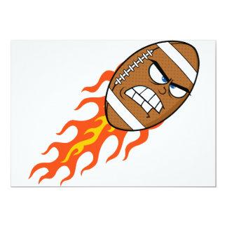 Fútbol americano en invitaciones del fuego invitación 12,7 x 17,8 cm