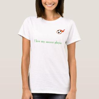 fútbol, amo a mi jugador de fútbol - modificado camiseta