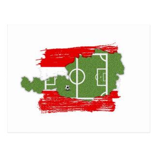 Fútbol Austria - postal del fútbol de la patria