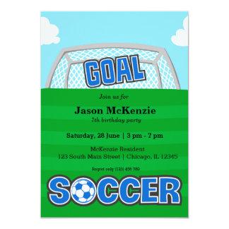 Fútbol (azul) invitación 12,7 x 17,8 cm