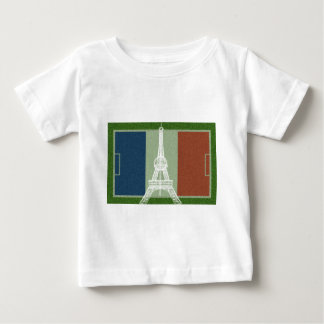 Fútbol-Bandera de Francia Camiseta De Bebé