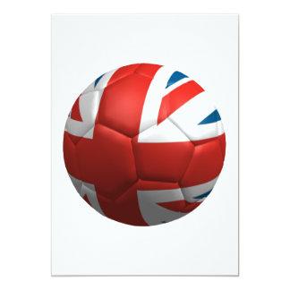 Futbol británico invitación 12,7 x 17,8 cm
