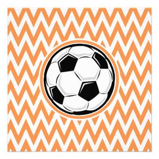 Fútbol; Chevron anaranjado y blanco Anuncio