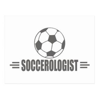 Fútbol chistoso postal