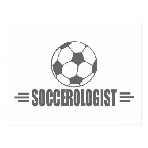 Fútbol chistoso tarjeta postal