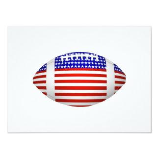 Fútbol con el diseño de la bandera americana (1) invitación 16,5 x 22,2 cm
