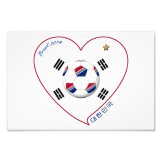 FÚTBOL COREA DEL SUR equipo nacional bandera 대한민국 Fotografías