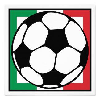 futbol. cuadrado de Italia. balón de fútbol Comunicados Personales