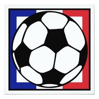 futbol. cuadrado del francaise. balón de fútbol invitación 13,3 cm x 13,3cm