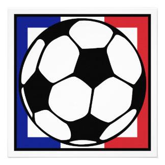 futbol. cuadrado del francaise. balón de fútbol comunicado