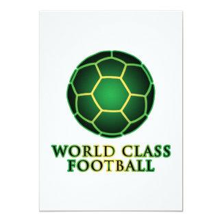 Fútbol de calidad mundial invitación 12,7 x 17,8 cm