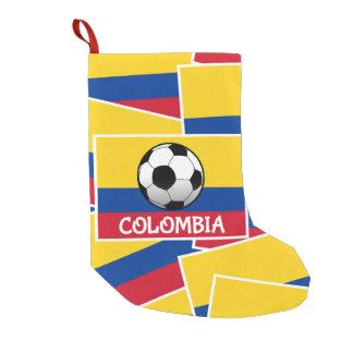 Fútbol de Colombia Calcetín De Navidad Pequeño