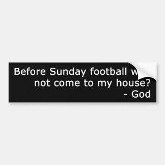 Fútbol de domingo pegatina para coche