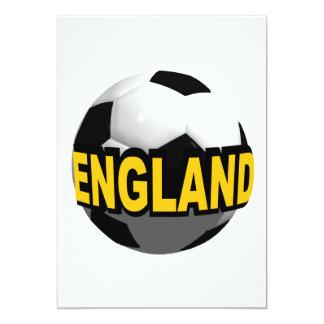 Fútbol de Inglaterra Invitación 12,7 X 17,8 Cm