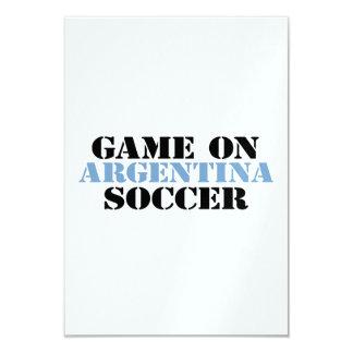 Fútbol de la Argentina Invitación 8,9 X 12,7 Cm