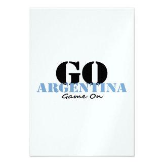 Fútbol de la Argentina Invitación Personalizada