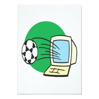Fútbol de la fantasía invitación 12,7 x 17,8 cm
